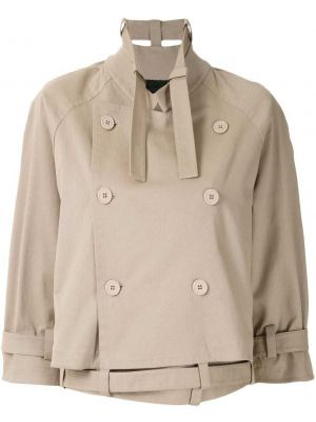 Терракотовое прямое пальто с поясом Gloria Coelho