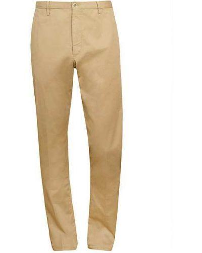 Синие льняные брюки дудочки с карманами Zanella