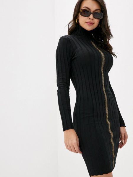 Черное вязаное платье Miss Gabby