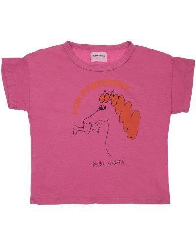 Fioletowy t-shirt bawełniany Bobo Choses