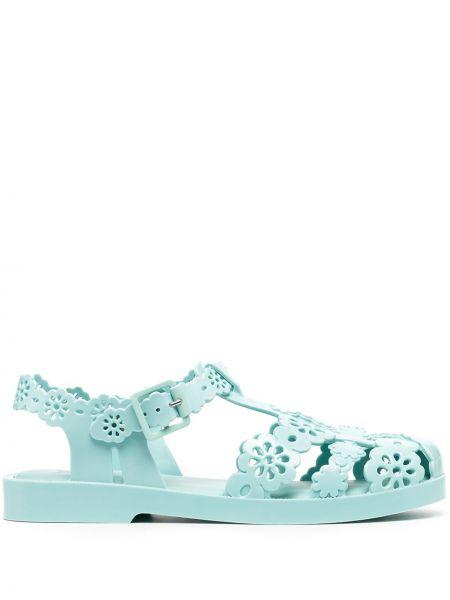 Синие брендовые сандалии на шнурках Viktor & Rolf