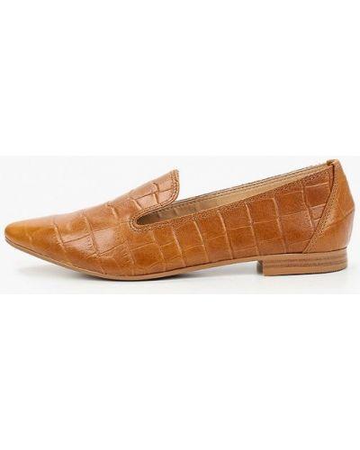 Кожаные коричневые лоферы Pazolini