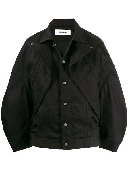 Черная куртка с запахом Chalayan