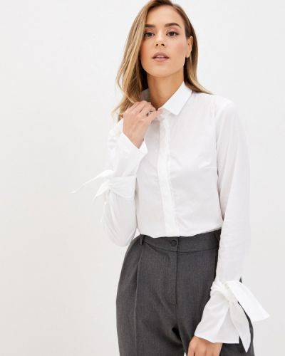 С рукавами белая блузка Rivadu