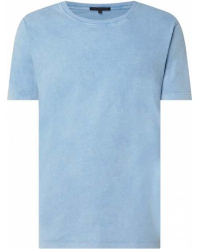 Niebieski t-shirt bawełniany Drykorn