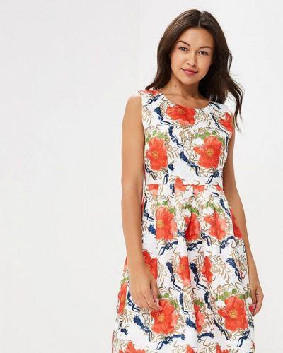 Белое платье осеннее Yumi