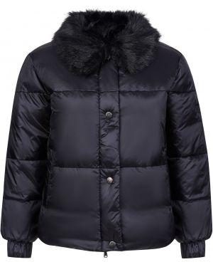 Куртка из искусственного меха - черная Emporio Armani