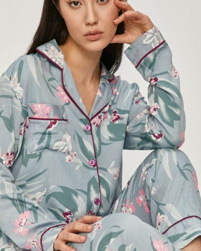 Niebieska piżama z długimi rękawami z wiskozy Answear Lab