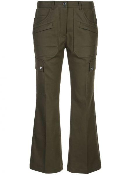 Укороченные брюки расклешенные с поясом Michael Kors Collection