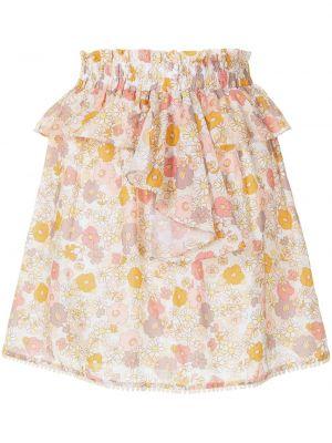 Расклешенное платье мини с поясом с оборками We Are Kindred