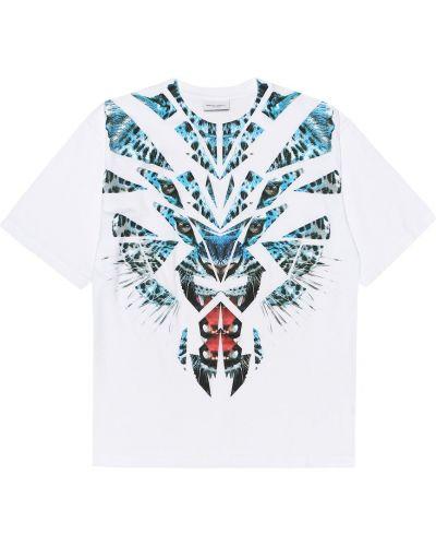 Biały t-shirt bawełniany Marcelo Burlon Kids Of Milan