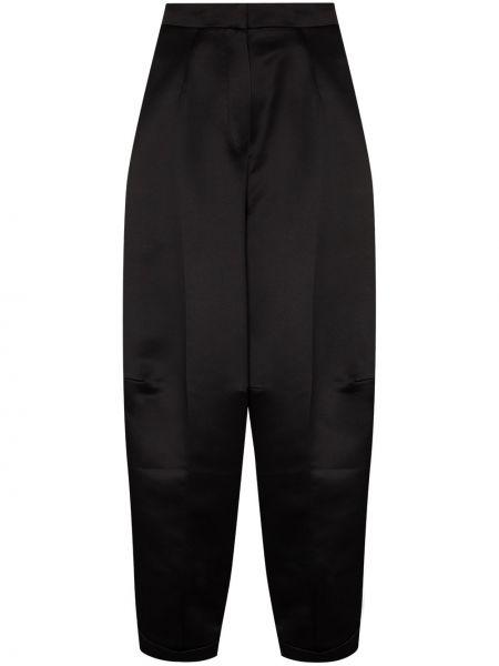 Черные укороченные брюки с высокой посадкой с потайной застежкой Anouki