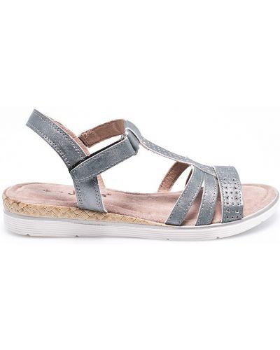 Серые сандалии текстильные Jana