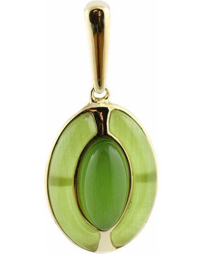 Золотая подвеска серебряный зеленый Jewelry Box