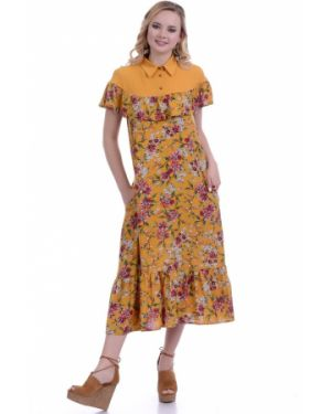 Летнее платье макси с цветочным принтом Lautus