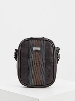 Кожаная сумка через плечо - коричневая Ted Baker London