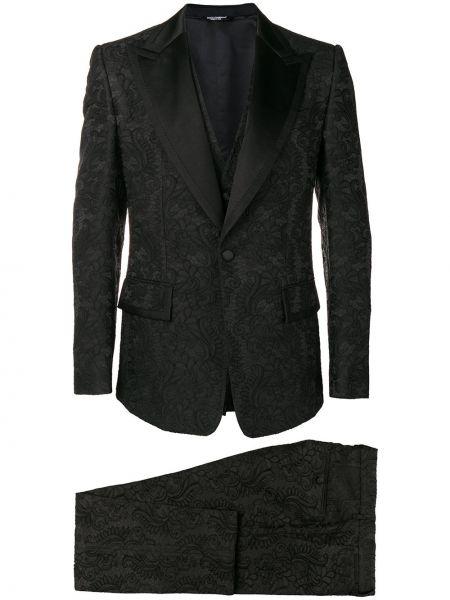 Klasyczny garnitur kostium z nadrukiem Dolce And Gabbana