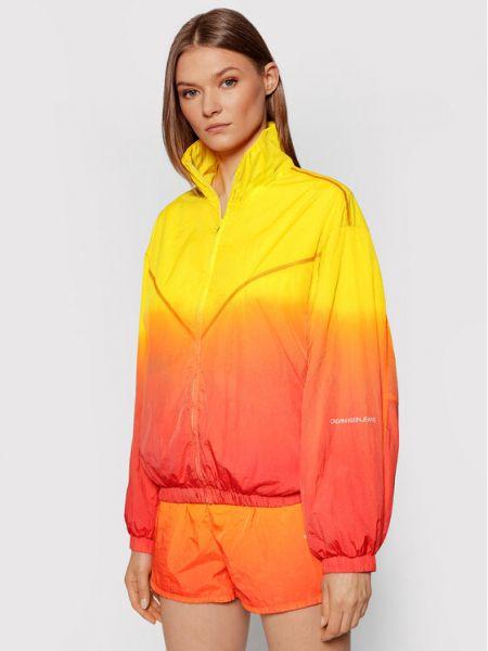 Kurtka przejściowa - żółta Calvin Klein Jeans