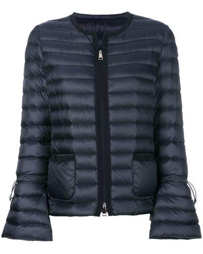 Длинная куртка укороченная с карманами пуховая Moncler