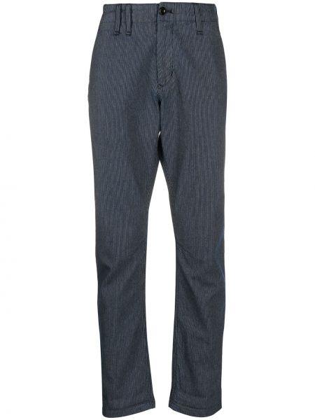 Синие деловые прямые брюки с карманами новогодние G-star Raw