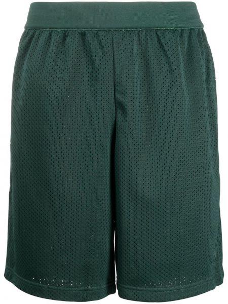 Zielony bawełna bawełna szorty sportowe z kieszeniami Adidas