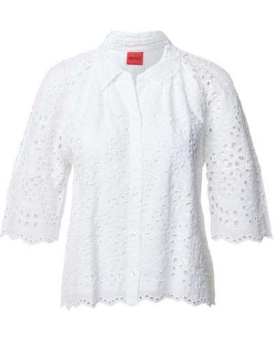 Bluzka z haftem - biała Hugo