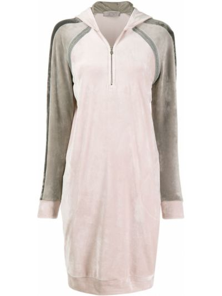 Розовое платье в рубчик D.exterior