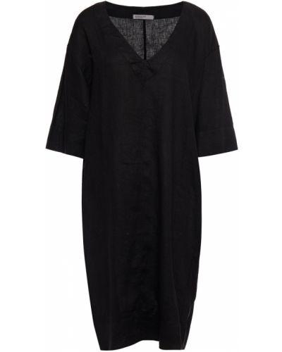 Льняное платье - черное Stateside