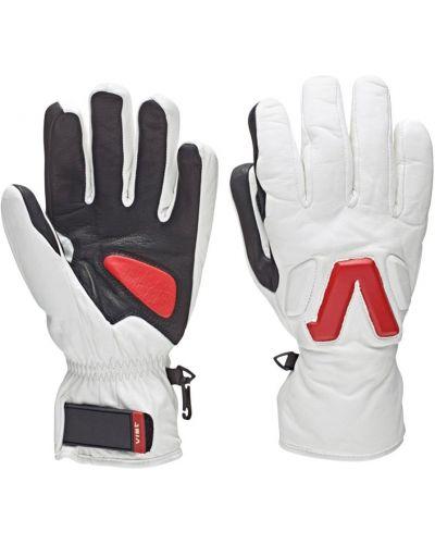 Białe rękawiczki skorzane Vist
