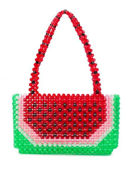 Красная сумка-тоут Susan Alexandra