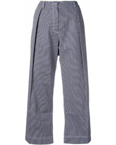 Укороченные брюки плиссированные хлопковые Peter Jensen