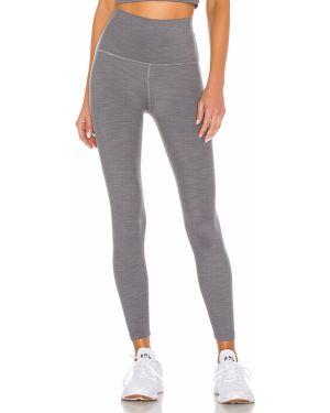 Spodnie z wysokim stanem szare elastyczne Beyond Yoga