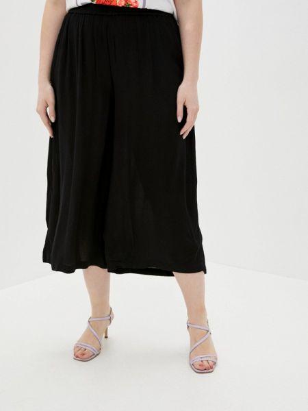 Свободные брюки расклешенные черные Zizzi