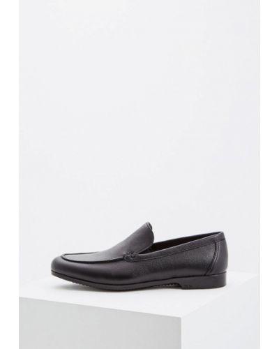 Черные кожаные мокасины Fabi
