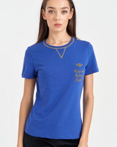 Хлопковая футболка Aeronautica Militare