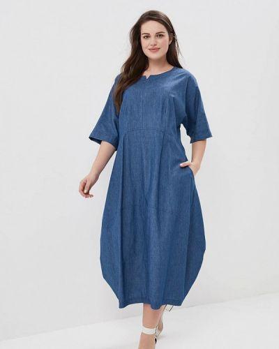 Синее платье джинсовое Silver String