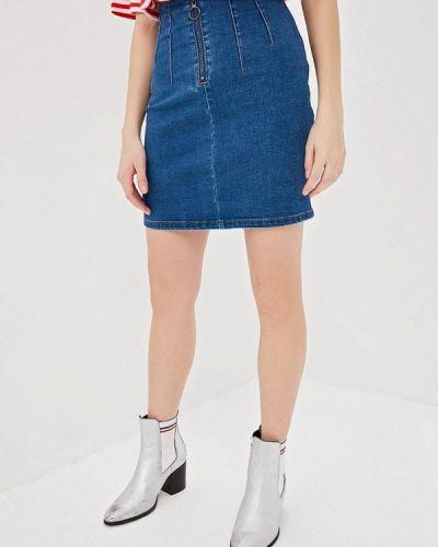 Джинсовая юбка синяя Befree