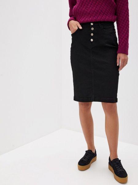 Джинсовое платье черное весеннее Vilatte