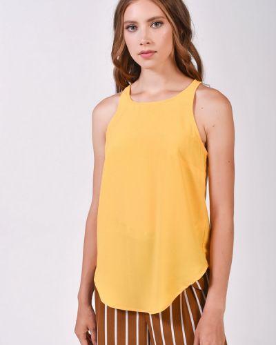 Блузка из полиэстера - желтая Alcott