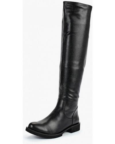 Ботфорты на каблуке кожаные черные Betsy