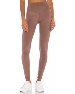 Brązowe spodnie z nylonu Lovewave
