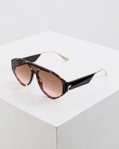 Коричневые солнцезащитные очки Christian Dior