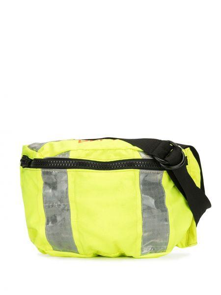 Żółty plecak z nylonu z printem Gallery Dept.