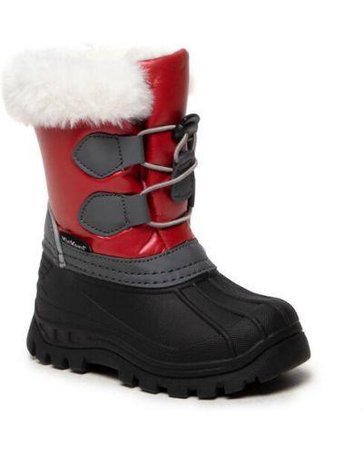 Czerwone śniegowce Kickers