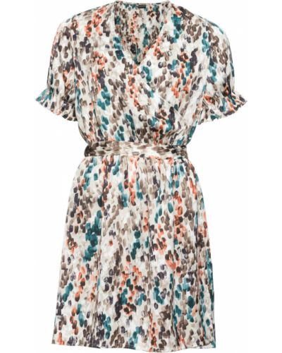 Платье с запахом на кнопках Bonprix