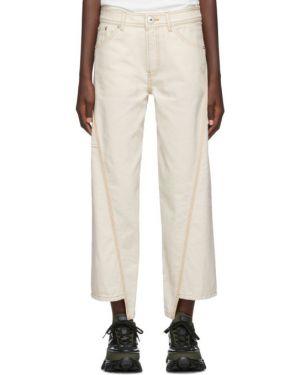 Прямые джинсы бежевые mom Lanvin