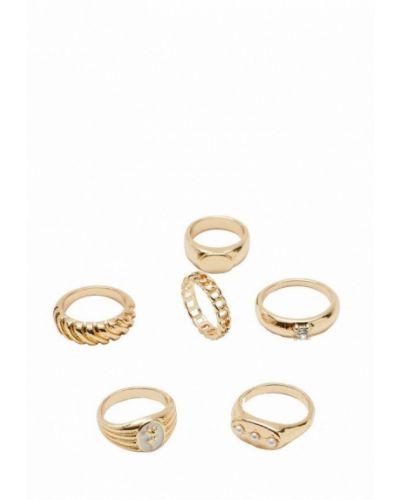 Зимнее кольцо золотое Stradivarius