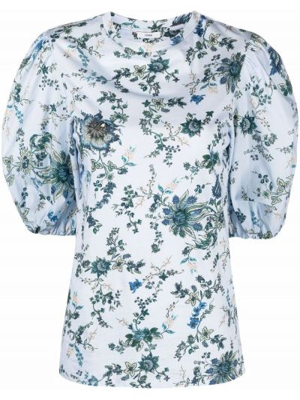 Niebieska bluzka bawełniana Erdem