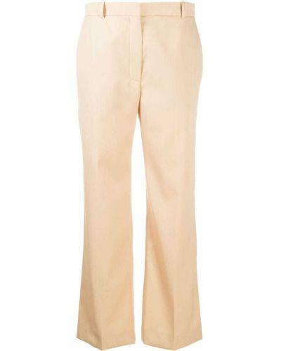 Шерстяные коричневые брюки с карманами Nina Ricci