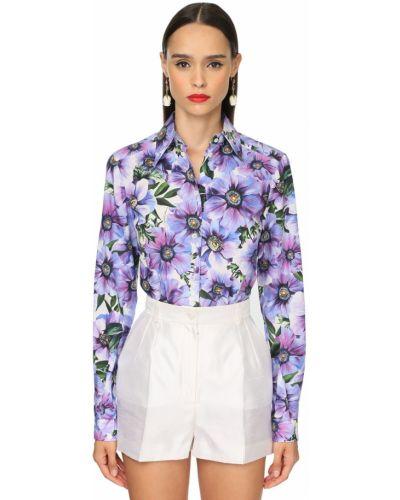 Приталенная классическая рубашка с воротником с манжетами Dolce & Gabbana